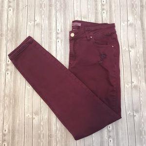 4 to $44 fall burgundy skinny jeans